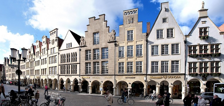 Explore the beautiful old town of Muenster