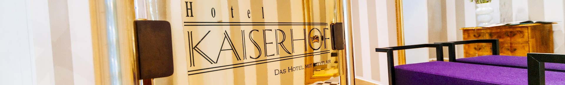 The Kaiserhof is a stylisch hotel between the city center and the train station.