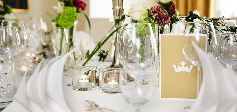 Lavish setting of the table