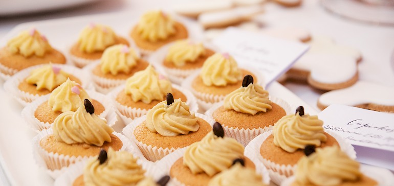 Cupcakes for the wedding guests